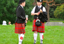 Photo of Vegan tartan kilt being launched in Glasgow