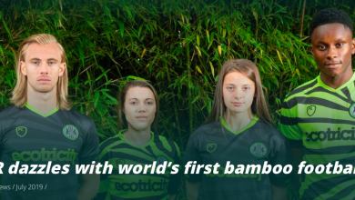 Photo of World's first Bamboo Football Kit unveiled by Forest Green Rovers FC