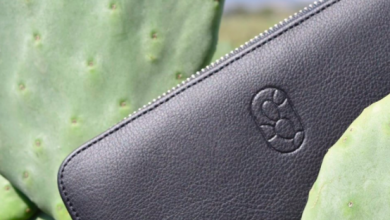 Photo of Mexican Vegan Cactus Leather showcased at Milan Leather Fair