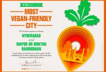 Photo of Hyderabad wins PETA Award as India's most Vegan Friendly City